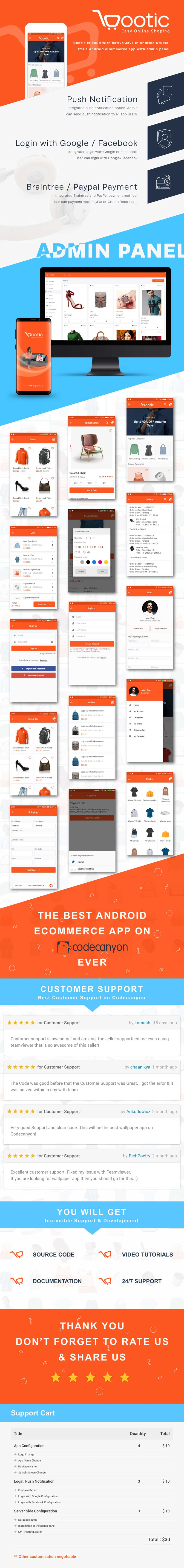 Bootic Full - An android eCommerce app with admin panel - 6