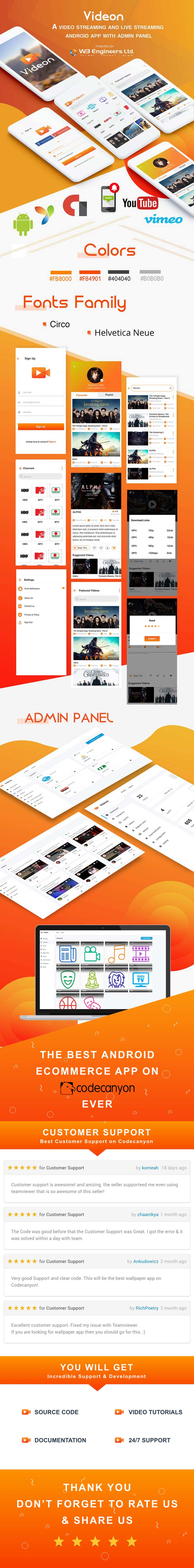 Videon - A video streaming android app with admin panel - 7